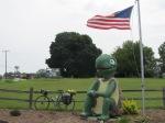 big turtle and bike